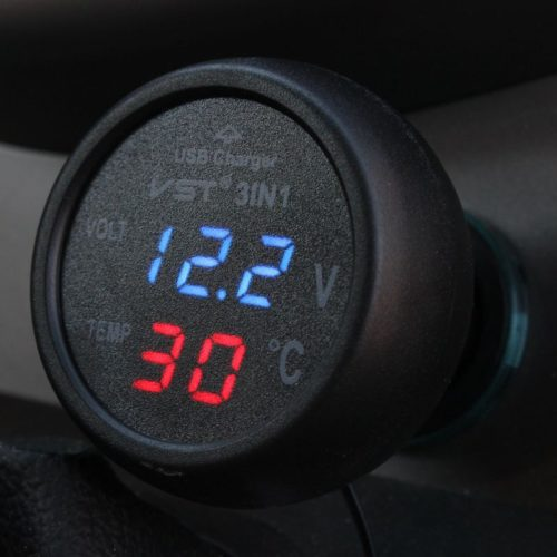 Brand-Promotion-VST-3-in-1-Vehicle-Battery-Voltage-Monitor-Digital-Thermometer-USB-Power-Port-Charger