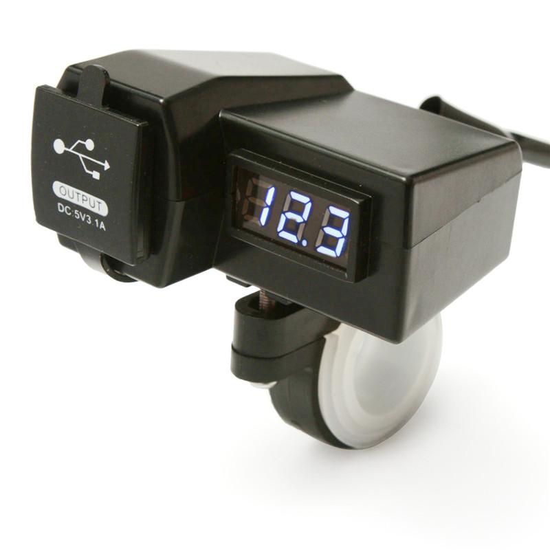 Waterproof-12-24V-Car-Motorcycle-Cigarette-Lighter-Socket-ATV-Scooter-With-Digital-LED-Voltmeter-Dual-USB